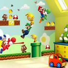 Multiple Large Super Mario Bros Removable Wall Sticker Decals Nursery Vinyl