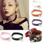 Punk Gothic Leather Choker Necklace Collar Studded Rivet Buckle Neck Ring Women