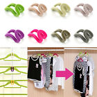New 2Pcs Home Creative New Mini Flocking Clothes Hanger Hook  Organizer For Room
