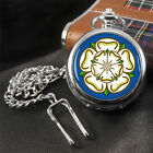 Yorkshire County Rose Flag Coat of Arms Pocket Watch