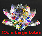 LARGE CRYSTAL LOTUS FLOWER ORNAMENT WITH GIFT BOX  CRYSTOCRAFT MULTY COLOUR