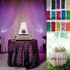 "Sequin Tablecloth 48"" - 132'' Round for Party/Wedding Table Bridal Dinning Table"