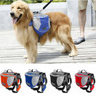 Pet Pack Dog Saddle Bag Backpack Carrier Outdoor Travel Hiking Camping Harness