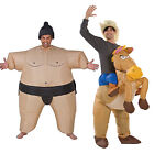 Adults Inflatable Blow Up Cowboy Or Sumo Wrestler Novelty Fancy Dress Costume