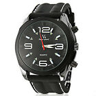 Brand V6 Fashion Wtaches Men's Watch big round dial Silicone band Wrist watches