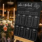 Personalised Wedding Table Seating Plan- VINTAGE CHALKBOARD-BUTTERFLIES