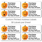 HALLOWEEN 30 PER SHEET PUMPKIN LABELS HOLIDAY MAILING RETURN ADDRESS SHIPPING