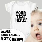 Personalised Custom ANY TEXT Bodysuit Baby Vest Cute Gift Funny ALL SIZES #34