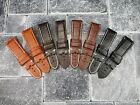 24mm Leather Band Deployment Watch Strap Large Long Size Black Brown PANERAI 24