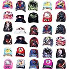 Kids Marvel Comics & Cartoon Characters Summer Baseball & Bucket Sun Hats Caps