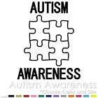 AUTISM AWARENESS PUZZLE KIDS PARENTS HERO PROUD CAR VINYL DECAL STICKER (AW-01)