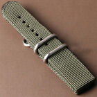 20/22mm Nylon Fabric Canvas Wrist Watch Band Strap Military Sport Classic Buckle image