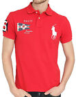 Ralph Lauren Polo Shirt Flag Big Pony Red Custom Fit Mens Size Large Genuine