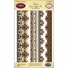 JustRite Classic Lace Edges Two Set of 4 Borders, NEW