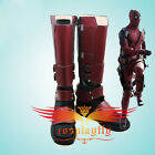 Fiml X-Men Deadpool Cosplay Shoes Overall Battleframe Red Boots Custom Size