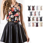 Ladies Summer Loose Casual Chiffon Sleeveless Vest Shirt Top Blouse Women Tops