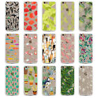Cactus Flamingo Floral Hard Back Clear TPU Case For Iphone 5 5S  6 6S 6Plus 5SE
