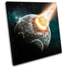 astronomy Fantasy Planets Science Space Stars Canvas Artwork Picture Print Wall