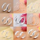 Fashion Women Jewelry 925 Silver Plated Elegant Ear Stud Hoop Dangle Earring