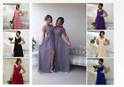 BRIDESMAID DRESS LONG CHIFFON PROM EVENING BALLGOWN MAXI PARTY FORMAL ASHLEY