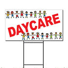 Daycare Red Children Pics Corrugated Plastic Yard Sign /Free Stakes