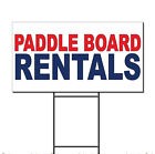 Paddle Board Rentals Red Blue Corrugated Plastic Yard Sign /Free Stakes