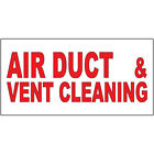 Air Duct & Vent Cleaning Red Auto Car Repair Shop DECAL STICKER Retail Store Sig