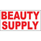 beauty store supply - Beauty Supply Red DECAL STICKER Retail Store Sign