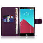 Phone Case Cover PU Leather Magnetic Book Flip Wallet For LG G3 G4 G5