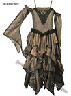 Vintage Gothic Victorian Steampunk Long Wedding Mourning  Dress