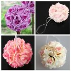 "1""5""10"" Kissing Ball Pomander Flowers Ball Crystal Pew Bows Wedding Party Supply"