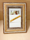 Desk Family Photo Frame Fireplace Shabby Chick Beech Finish with stand/ support