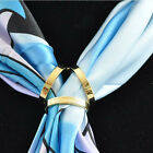 Hot New Jewelry Simple Three Ring Smooth Round Scarf Clip Slide Buckle Luxurious