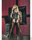 Shirley Of Hollywood Black Stretch Satin Corset w/ Garter...