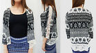 Hot Gal Juniors New Printed Flowing Silhouette Kimono Blouse Cardigan Coat Top