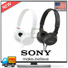 New Sony Studio Monitor Sound and Style Stereo Headphones MDR-ZX100 Black/White