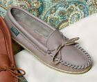 Womens Molded Sole Cowhide Leather Moccasins Cushion Insoles Size 5-10 Made USA