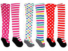 NEW High Quality Girls Patterned Tights 2-3 Polka/ Striped 6 Designs100% Cotton