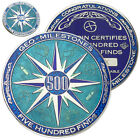 500 Finds Geo-Milestones Geocoin And Pin Set - Award Your Geocaching Success