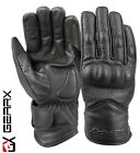 Vented Leather Motorbike Motorcycle Gloves Knuckle Shell Protection