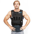RUNmax Adjustable Weighted Vest with SHOULDER PADS 20lbs-140lbs Weight Options