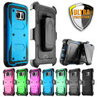 Shock-absorbing Belt Clip Holster Case Cover for Samsung Galaxy S7/ S7 Edge