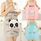 Women Lovely Cartoon Waterproof Graceful Kitchen Restaurant Cooking Bib Aprons