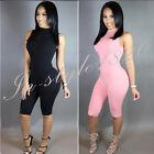 Women Sexy Zip Summer Cotton Under Woman Rompers Jumpsuit Bodycon 2016 Two Color