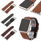 Genuine Leather Retro Replace Watch Band Strap for Apple Watch iWatch 38mm/42mm