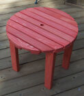 Children's Play Furniture Collapsible Round Beach Table Straight or Curved Legs