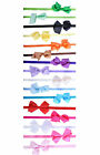 Headband Ribbon Bow Girls Pretty Small Baby Satin Hairband Hair Accessory Gift