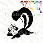 "1 of 5"" Pepe Le Pew Skunk /A car truck window stickers decals die cut bumper"