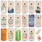 Floral  Bible Verse Transparent Soft Ultra-Thin Gel Case For iPhone 5SE 6Plus 6S