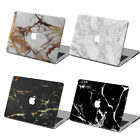 Rubberized MARBLE Prints Hard Case Shell + EU/US Keyboard For Macbook Pro Air